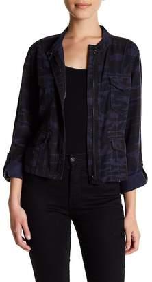 Sanctuary Camo Waist Length Anorak Jacket (Petite)