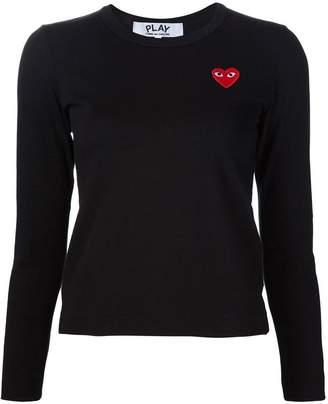 Comme des Garcons heart logo sweatshirt