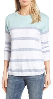 Women's Vineyard Vines Stripe Cotton Sweater $98 thestylecure.com
