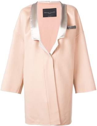 Fabiana Filippi oversized embellished pocket coat