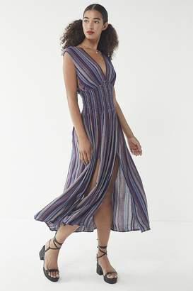 Urban Outfitters Carieen Smocked Waist Maxi Dress