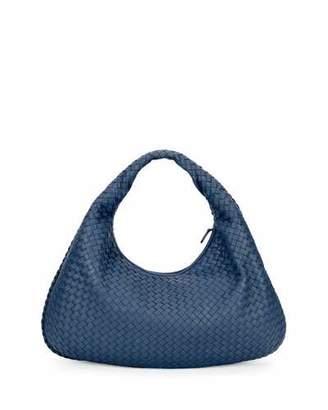 Bottega Veneta Veneta Intrecciato Large Hobo Bag, Cobalt Blue