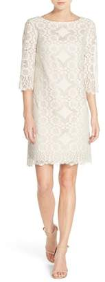 Eliza J 3/4 SLEEVE LACE SHIFT