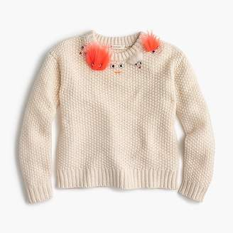 J.Crew Girls' fuzzy Max the Monster popover sweater