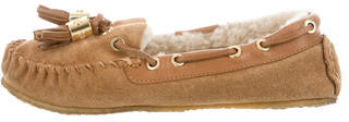 Tory BurchTory Burch Suede Shearling-Lined Moccasins