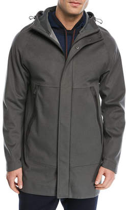 Loro Piana Shieldly Cashmere Storm System®; Parka with Attached Hood