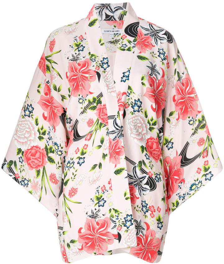 Kimono-Jacke mit Blütenmuster