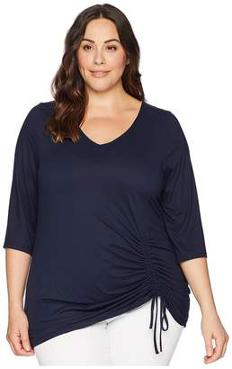 Kiyonna Rory Ruched Top Women's Clothing