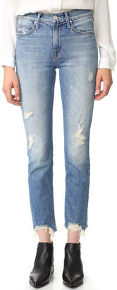 MOTHER The Flirt Fray Rigid Jeans $265 thestylecure.com