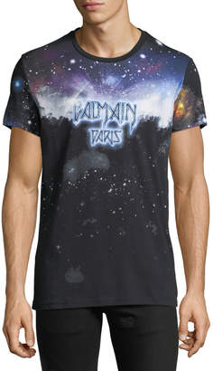 Balmain Men's Galaxy-Print T-Shirt