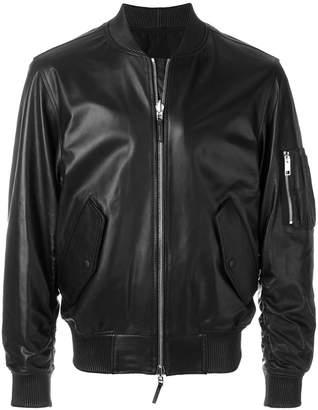 Ermanno Scervino leather bomber jacket