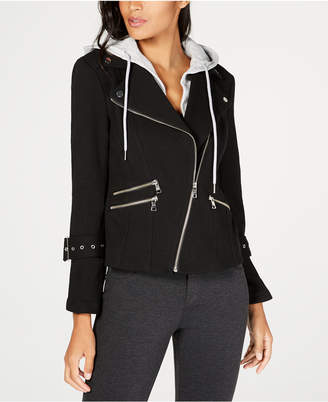 INC International Concepts I.N.C. Hooded Moto Jacket, Created for Macy's