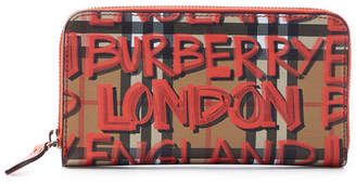 Burberry Printed Leather Wallet