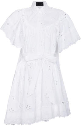 Simone Rocha Cotton belted shirt dress