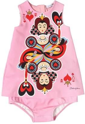 Dolce & Gabbana Queen Of Hearts Cotton Dress