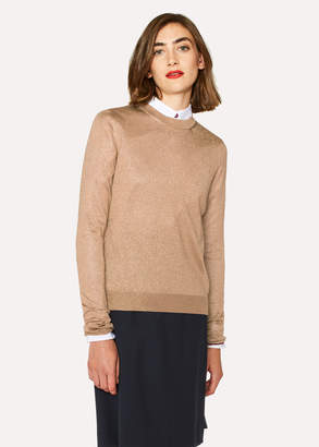 Paul Smith Women's Gold Metallic Sweater