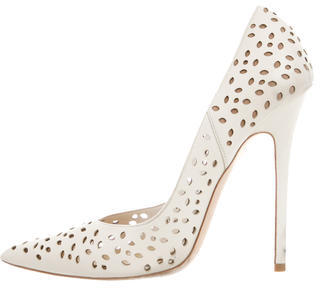Jimmy Choo Jimmy Choo Laser Cut Leather Pumps