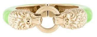 Chanel Enamel Lion Bangle Bracelet