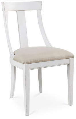 One Kings Lane Deco Side Chair - Flax Linen