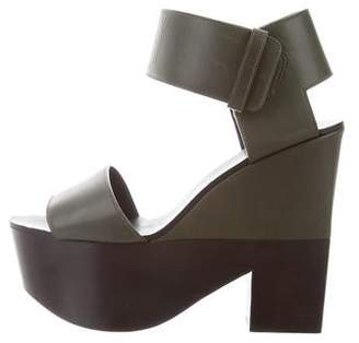 Celine Bicolor Platform Sandals