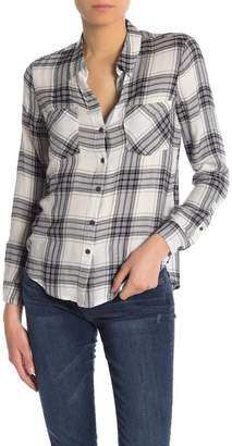 Lucky Brand Boyfriend Plaid Shirt