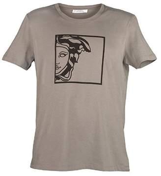 Versace Men's Black V-Neck Medusa T-Shirt (L)