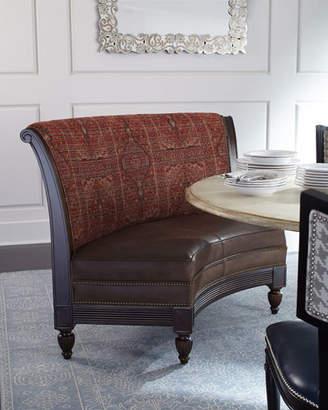 Massoud Cayenne Leather Banquette