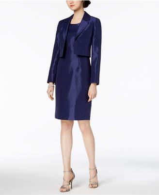 Le Suit Shiny Kiss-Front Jacket & Dress, Regular & Petite