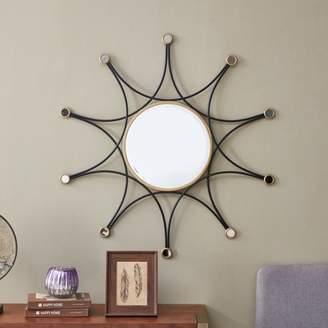 "Mid-Century MODERN Southern Enterprises Rytia Decorative 36"" Wall Mirror, Midcentury Modern Style, Black"