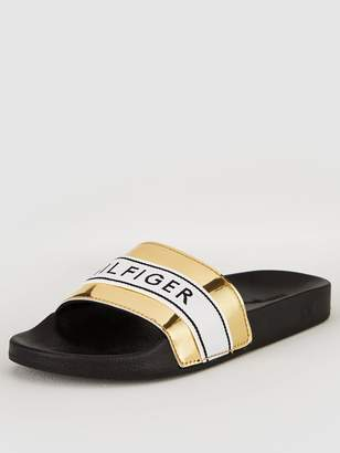 Tommy Hilfiger Mirror Metal Beach Slide