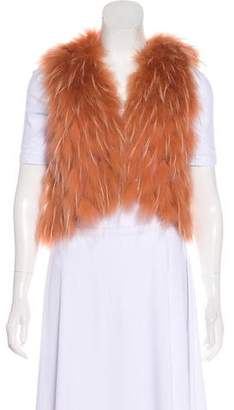 J. Mendel Sleeveless Fur Vest