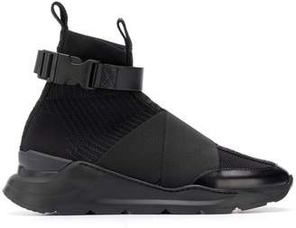 Balmain high-top buckle sneakers
