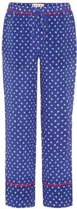 Marni Printed silk trousers