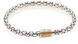 John Hardy Dot Sterling Silver & 18K Gold Slim Chain Bracelet
