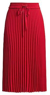 RED Valentino Women's Pleated Drawstring Midi Skirt