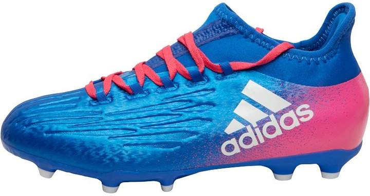 Junior X 16.1 FG Football Boots Blue/Whi...