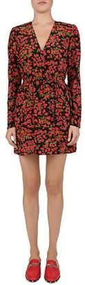 The Kooples Camellia Print Silk Dress