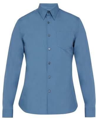 Prada Slim Fit Cotton Shirt - Mens - Mid Blue