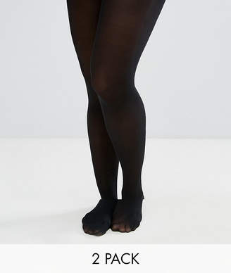 Asos DESIGN Maternity 2 pack 50 denier tights in new improved fit