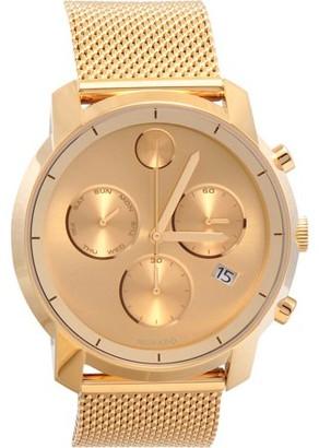 Movado Men's Swiss Chronograph Bold Gold-Mesh Bracelet Watch 3600372