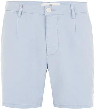 Topman Light Blue Tencel Slim Shorts