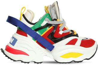 DSQUARED2 60mm Giant Neoprene & Leather Sneakers