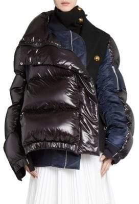 Sacai Melton Puffer Jacket