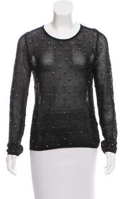 Wes Gordon Crystal Embellished Knit Sweater