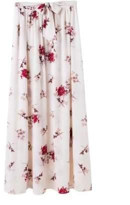 Goodnight Macaroon 'Bobbi' Floral Tied Waist Wrap Maxi Skirt (2 Colors)