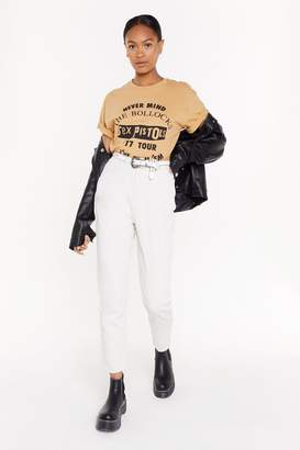Nasty Gal Womens Put Your Re-Cords On Corduroy Mom Jeans - Cream - 10