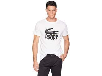 Lacoste Sport Short Sleeve Tech Jersey T-Shirt w/ Large Croc Print