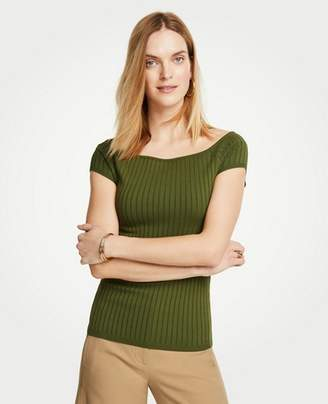 Ann Taylor Petite Boatneck Cap Sleeve Sweater