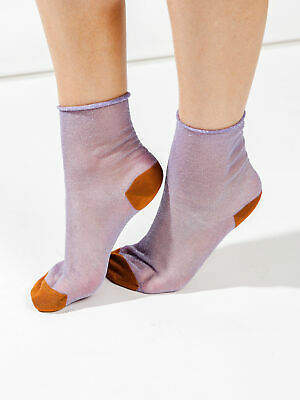 Hysteria By Happy Socks New Womens Emma Ankle Sock In Purple Socks