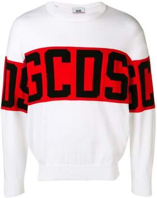 GCDS logo knit sweater